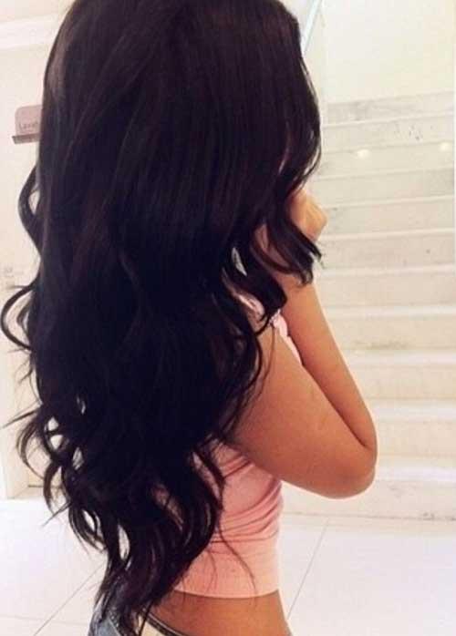 Estilos largos de cabello ondulado