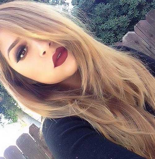 Capas de color de cabello rubio para niñas