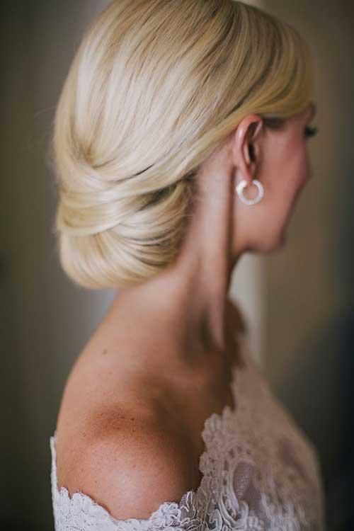 Bollo blando de pelo rubio suave para bodas