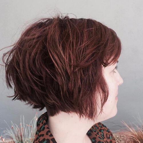 peinado de bob apilado