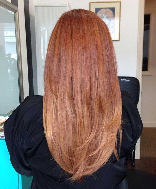 Peinados largos de fresa y fresas Vista posterior Look