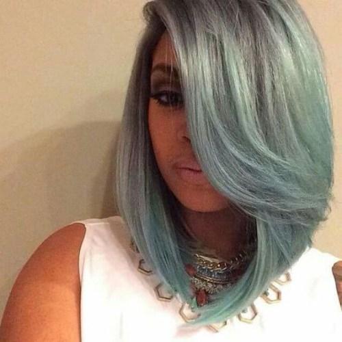 mar espuma gris bob peinados para mujeres negras