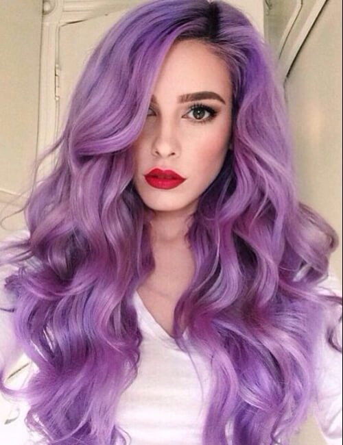 sombra amatista de pelo púrpura