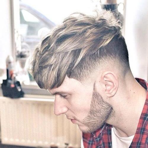 Peinados cortados para hombres con líneas rectas