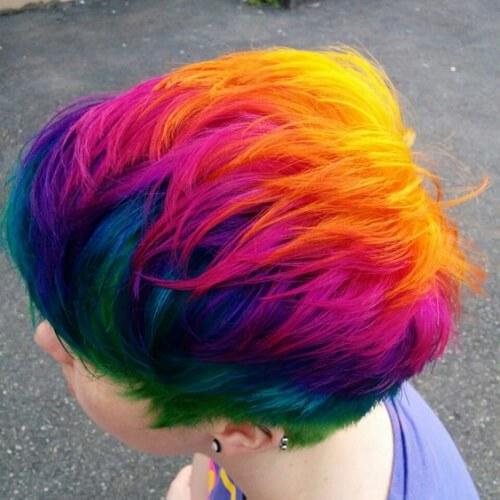 peinados cortos en arcoiris