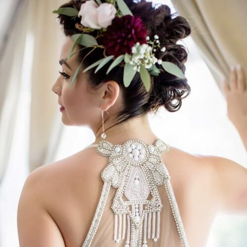 Mohawk trenzado de la novia