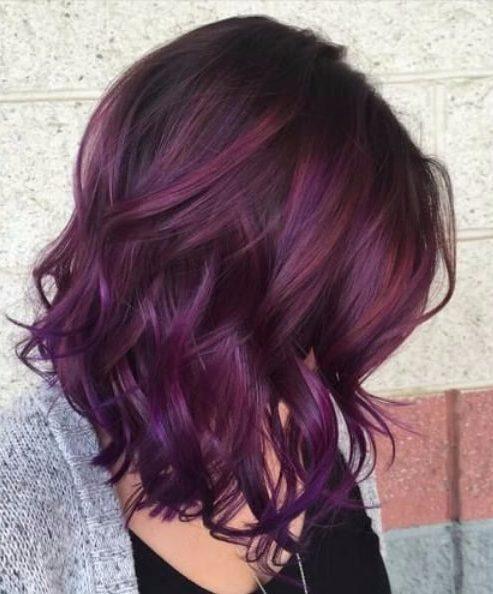 45 Ideas Para El Color Del Cabello Sweet Plum 187 Largo Peinados