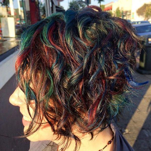 46280816-short-rizado-hairstylesshortrainbowbalayageforbrunettes