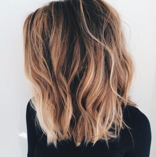 color de pelo de balayage de cobre dulce