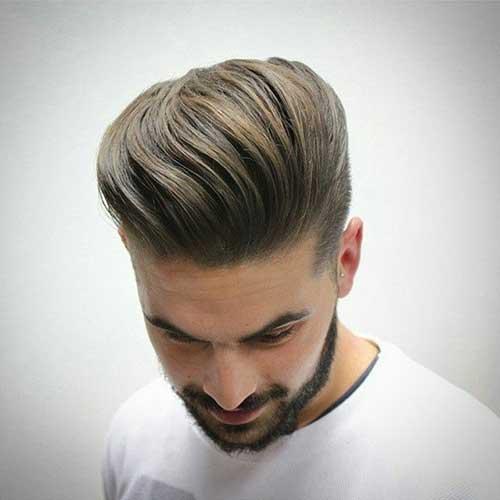 peinados de pomp rubia sucia para hombres
