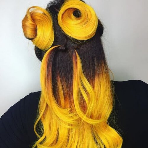 peinados cool negros y amarillos para niñas