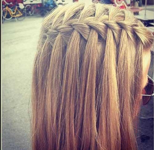 Trenza para cabello largo y recto