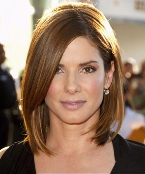 cortes de pelo de sandra para rostros redondos