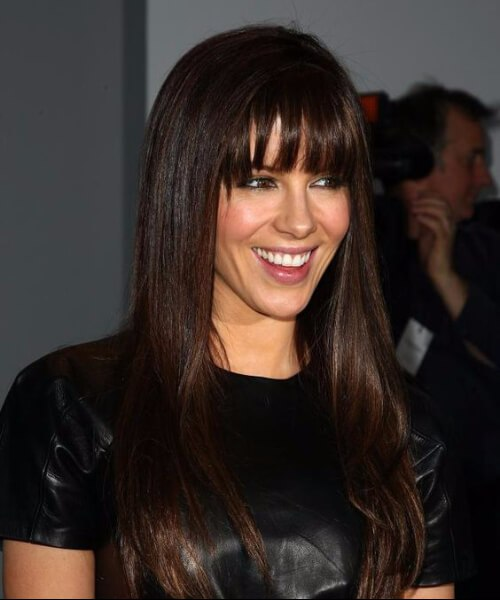 kate beckinsale peinados con flequillo