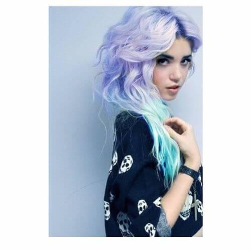 cabello rizado sirena cabello emo peinado
