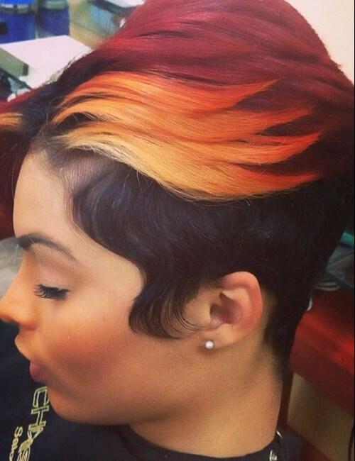 peinados cortos para mujeres negras tres colores