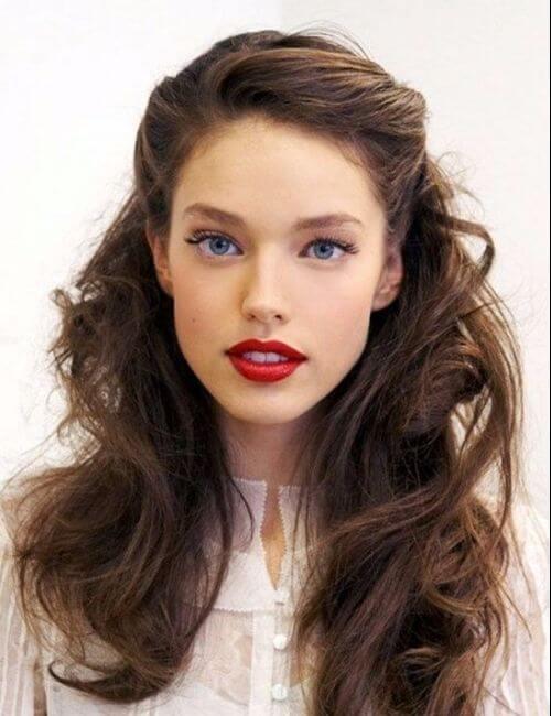elegantes peinados de dama de honor vintage