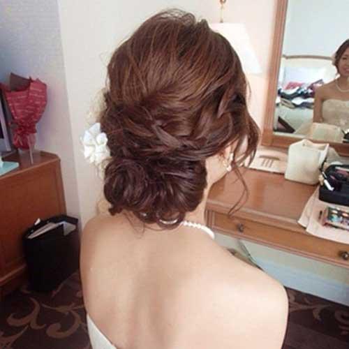 Low Updo Long Hairdos para la boda