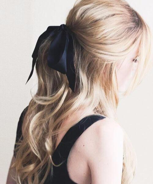 dulce arco negro peinados largos