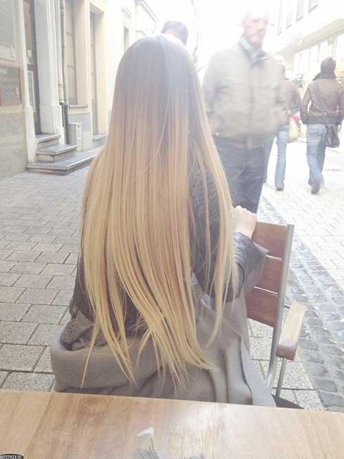 Blondie Ombre peinados muy largos