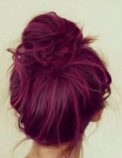 framboise sombra de pelo morado