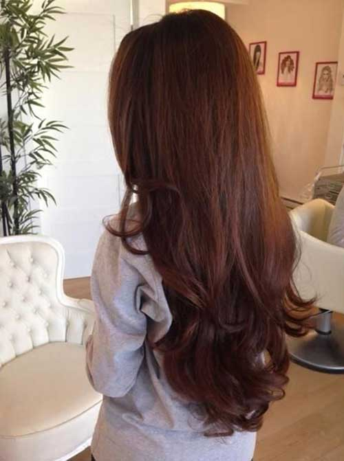 Peinados largos marrones oscuros-24