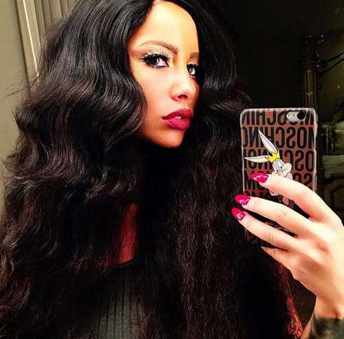 Peinados largos de color ámbar