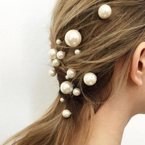 peinados frescos de perlas para niñas