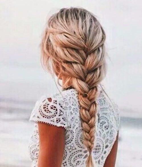 trenza de playa francés trenza peinados