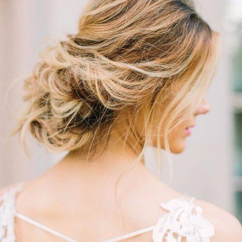 peinado de la boda balayage rubia sucia