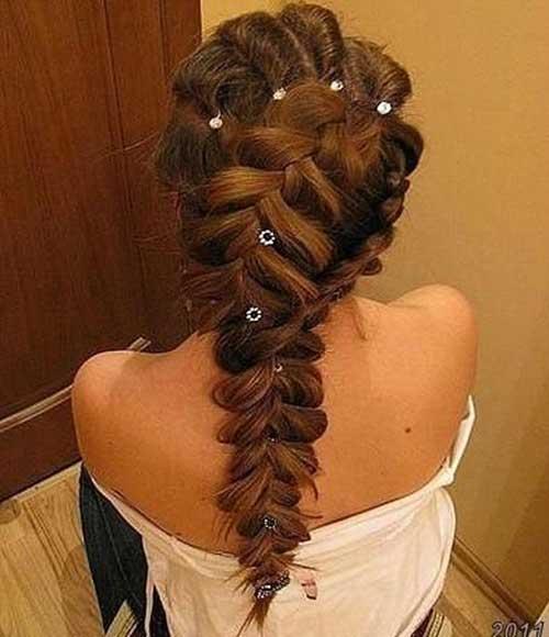 Peinados largos trenzados especiales
