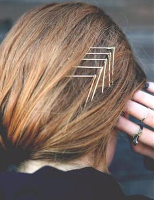 chevron pin up hair para cabello largo