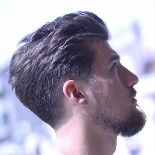 53 Slick Taper Fade Cortes De Pelo Para Hombres Largo Peinados