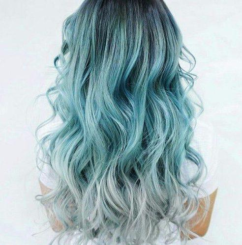 color de pelo de balayage de espuma de mar