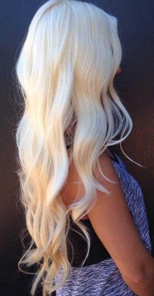 Peinados de rubio platino con ondas