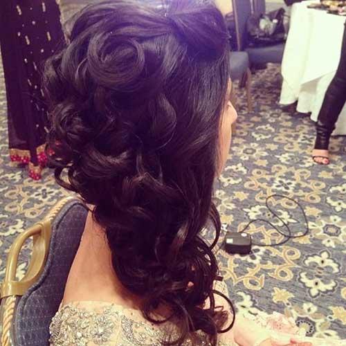Estilos de cabello de boda para cabello largo-17