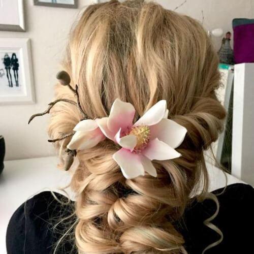 peinados de trenza de boda para cabello largo