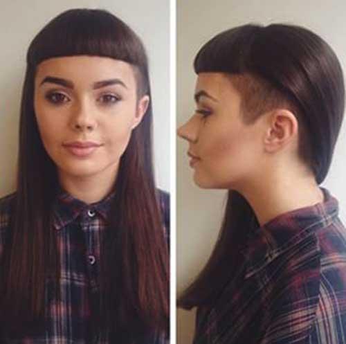 Peinados con flequillo 2018-24