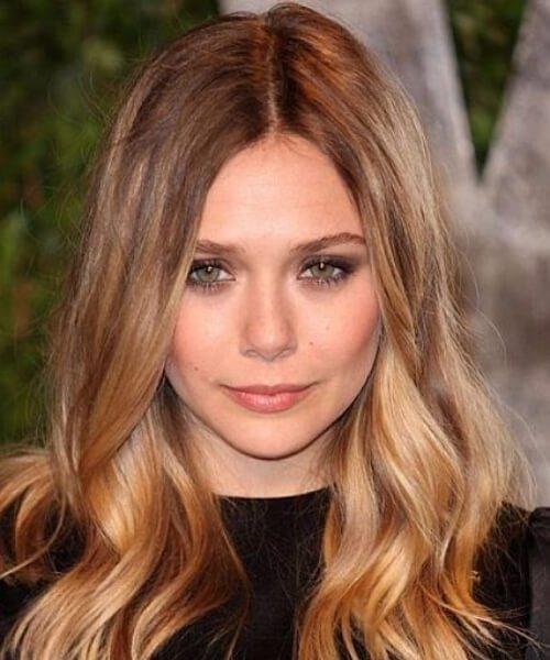 elizabeth olsen bronde peinados de longitud media