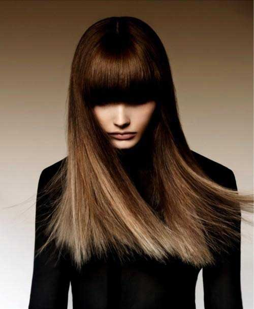 Flequillo en cabello largo-9