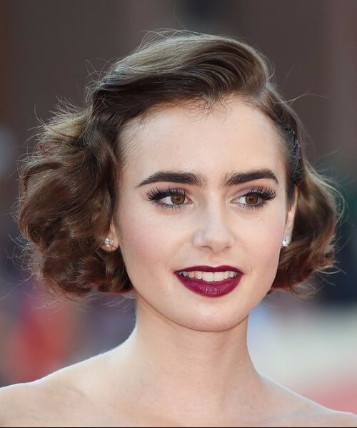 lilly collins peinados cortos