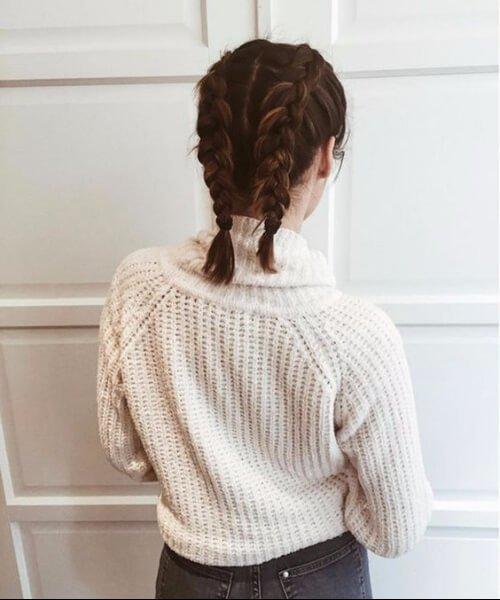 peinados trenzados a la altura del hombro