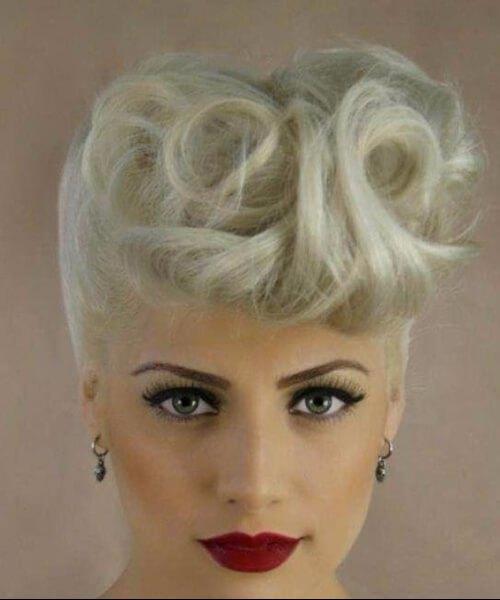 pelo blanco pin up peinados