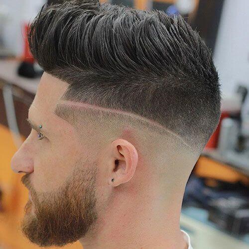 Peinados espigados para hombres con línea quirúrgica
