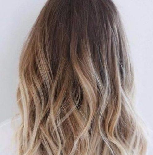 color de cabello rubio balayage de latón