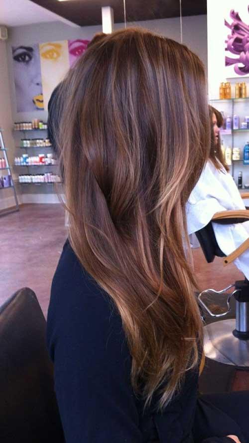 Caramelo Balayage en Brown Hair Idea