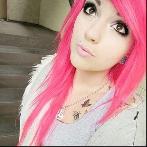 cabello rosado
