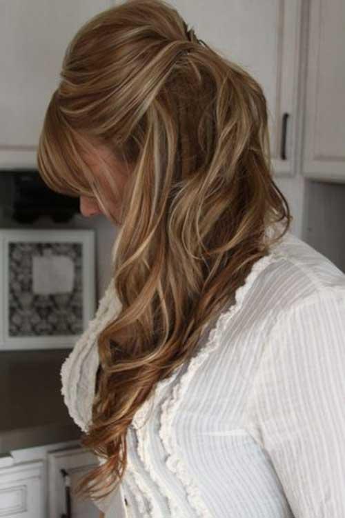 Mejor cabello castaño claro con reflejos