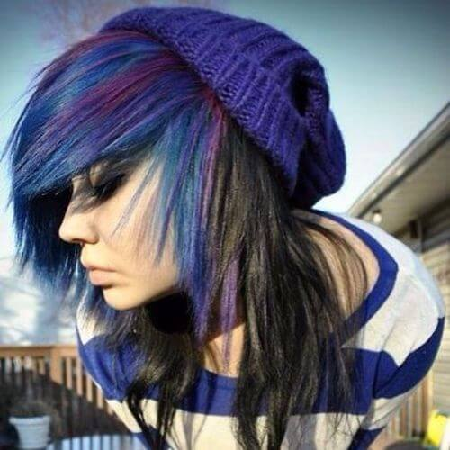 largos peinados emo para niñas