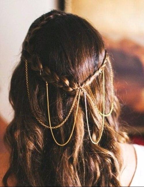 trenzas reales pelo castaño updos para cabello largo